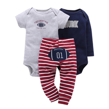 c92868066ddb 2019 unisex de bebé recién nacido Ropa de mono de algodón + pantalón de 3  piezas