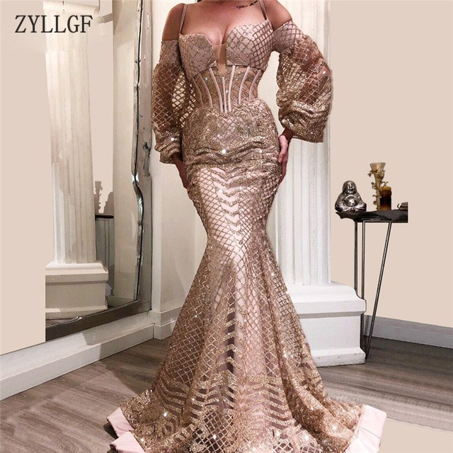 ZYLLGF Sexy Saudi Arabia   Evening     Dresses   Robe De Soiree Aibye Muslim Turkish Prom Pageant Gowns For Party MC18