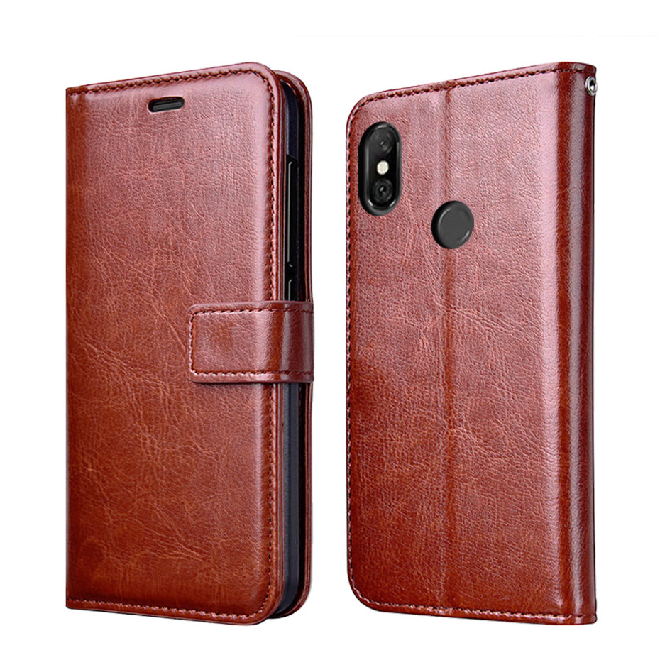 Micgita Case For Xiaomi Redmi Note 6 Pro 3/32GB 6.26 Leather Cases Retro Card Wallet Flip Cover Redmi Note6 Pro Case 4 + 64 GB image