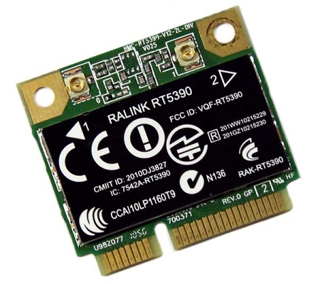 RT-5390 HP COMPAQ 630703-001 629883-001 RALINK RT5390 HALF-MINI WIRELESS N CARD