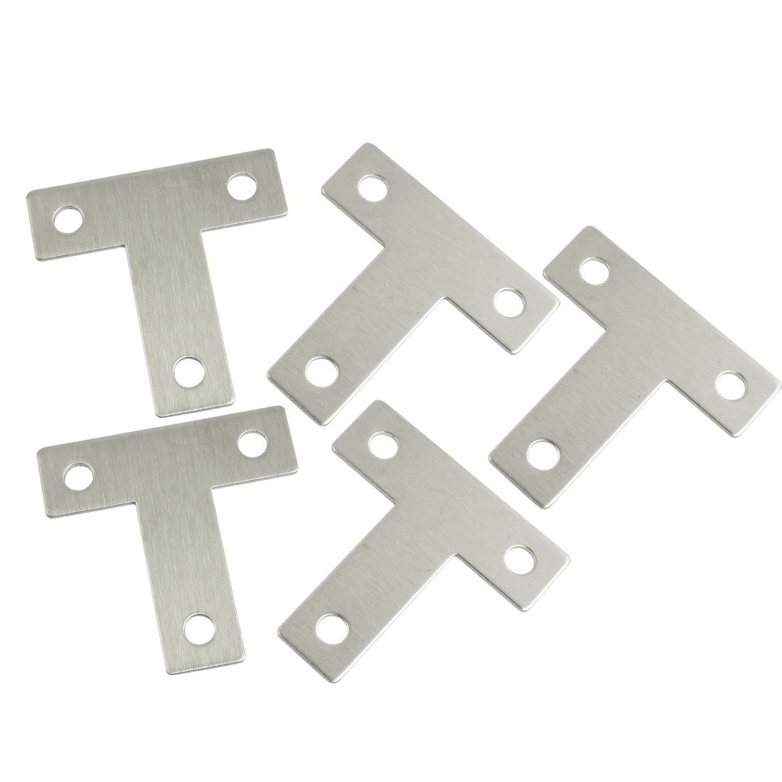 5 Pcs Angle Plate Corner Brace Flat T Shape Repair Bracket 10 pcs lot silver color metal corner brace right angle l shape bracket 20mm x 20mm home office furniture decoration accessories