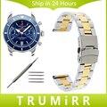 Нержавеющая Сталь Ремешок Для Часов 18 мм 20 мм 22 мм 24 мм + Инструмент для Breitling Часы Группа Безопасности Пряжки Ремня браслет Черный Золото Серебро