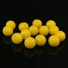 100pcs Pack Carp Fishing Yellow Half Floating Water Round Soft Boilies Baits Corn Flavor Carping Bait