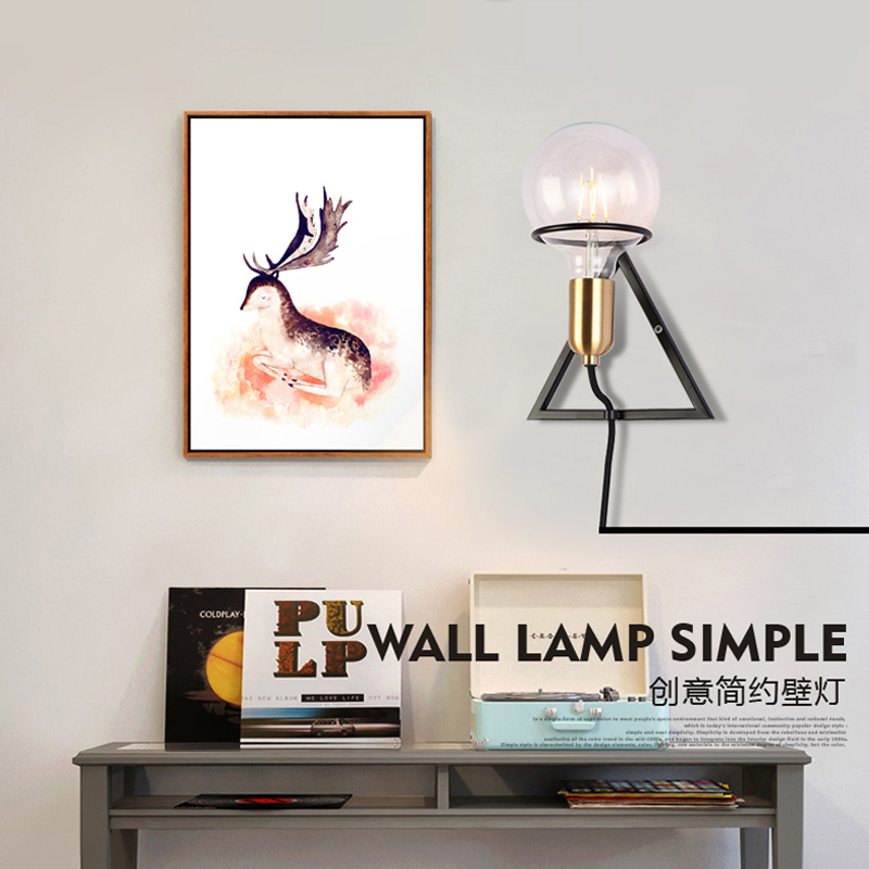 New style E27 LED wall lamps metal glass ball wall lights for passage corridor Bedroom bedside lamp AC85-265V free shipping