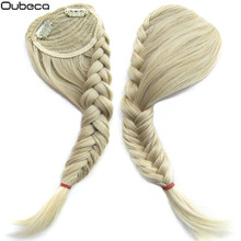 Oubeca Synthetic Fishtail Plaited Braided Gradient Bangs Fake Hair Bang Front