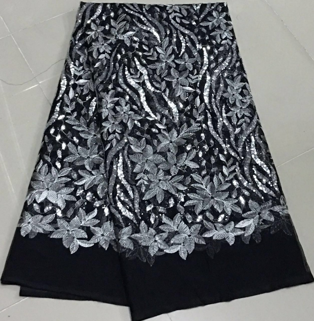 Apparel & Merchandise Grey Beaded Appliqued Lace Fabric High Quality Latest African Lace 2018 Noble Handmade 3d Lace Fabric For Nigerian Party Lr047