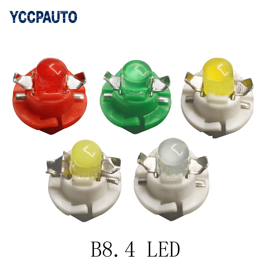 B8.4 B8.4D BX8.4D Instrument Panel car LED Indicator Lamp Dash Board DC 12V Bulb Light Vehicle Blue Red Green White Yellow 50pcs instrument indicator light signal light silver green dc 24v 25 pcs
