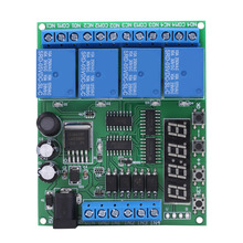 цена на DC 4-Channel Relay Multifunction Delay Time Relay Timer Switch Relay Module