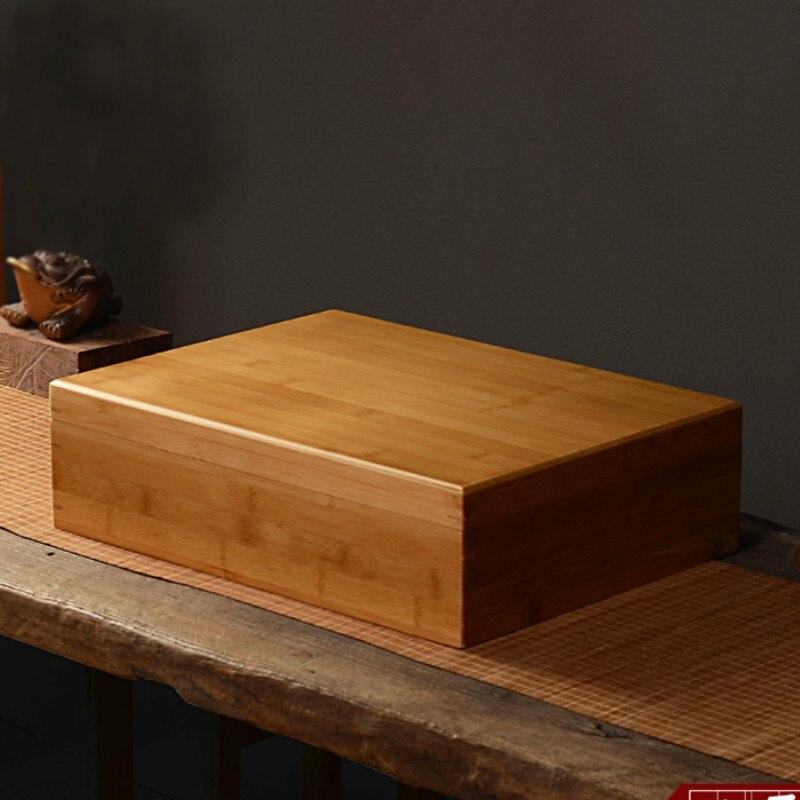 الخيزران 40*30 لامعة مربع هدية تخزين الشاي صندوق خشبي التجميل المكياج المنظم مجوهرات زيت طبيعي تخزين-في صناديق وعلب تخزين من المنزل والحديقة على  مجموعة 1