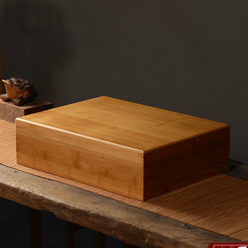 Bamboo 40*30 glossy box gift storage Tea wooden box cosmetic make up organizer jewelry essential oil storage