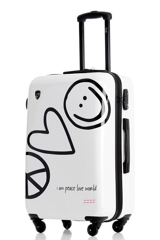 Cheap Aluminum Frame Luggage Male Female Trolley Case Lock Universal Wheels PILOT