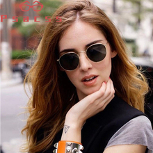 Psacss Hot Metal Round Sunglasses For Men Women Vintage Rainbow Color Brand Designer Sun Glasses oculos de sol feminino UV400