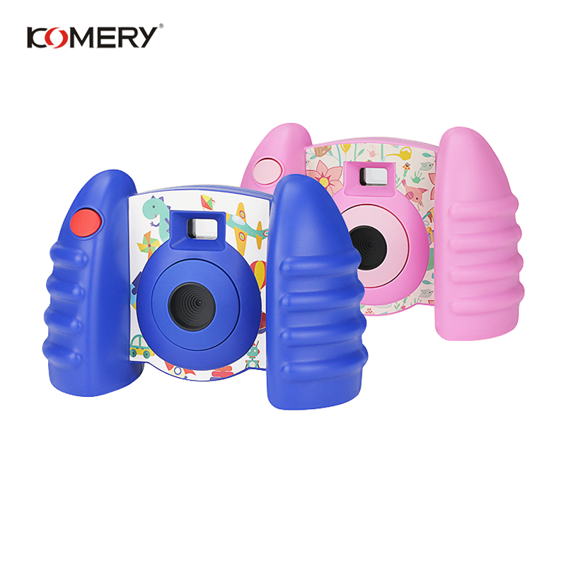 Genuine KOMERY Children Camera Toys For Children Camera Fresh Camcorders And Funny Automatic Camera Anti fall Healthy Material-in Consumer Camcorders from Consumer Electronics