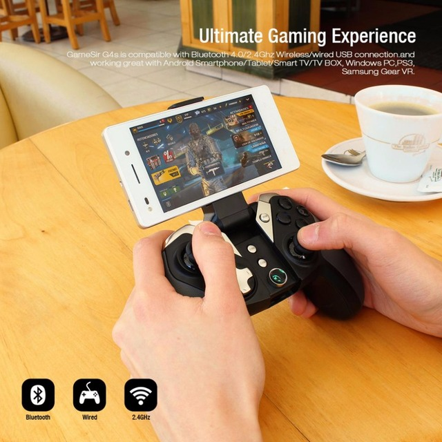 GameSir G4 / G4s Bluetooth 2.4G Wireless Gaming Moba Controller Gamepad for Android Smartphone PC PS3 Tablet NES Console 2