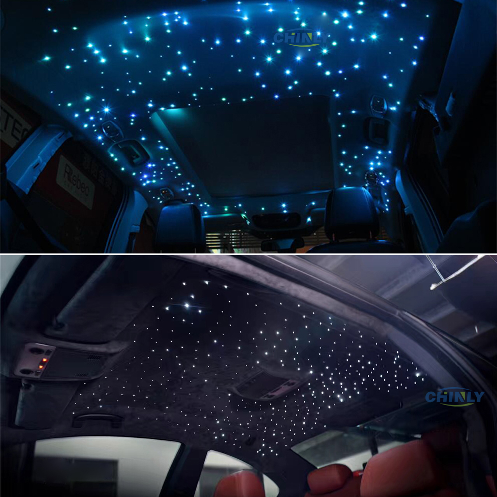 Car Light Fiber Optic Cable Star Ceiling Lighting Kit Sound Music Active Controllerwith 3m Mixed
