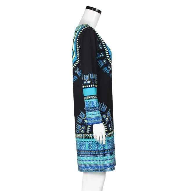 Châu Phi Quần Áo Thời Trang Mùa Hè Truyền Thống Châu Phi Headtie In Dashiki Slim Ôm Body Gợi Cảm Tay Dài Đầm Vestido Nov3