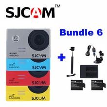 SJCAM SJ5000X Elite Sj5000 SJ5000 WIFI Sj5000 Action Sports Kamera Mit 2 Akku + Ladegerät + Selfie Stick + Kfz-ladegerät