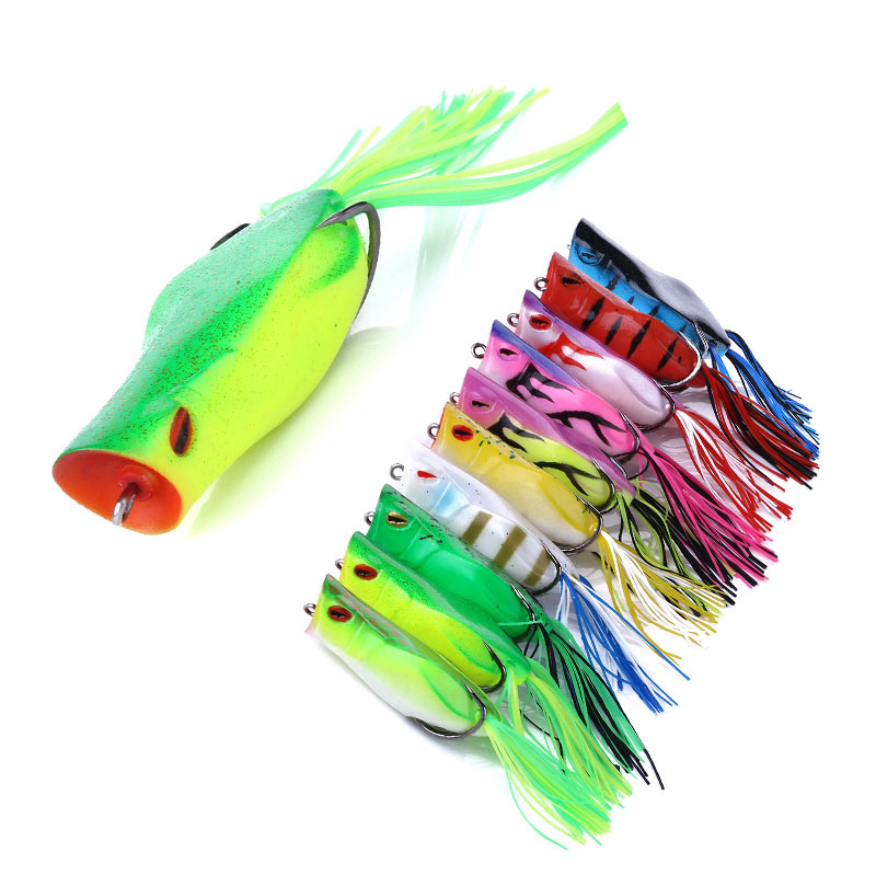 1pcs Ray Frog Lure 70mm 14g Fishing Lure Sillicon Bait Fake Lure For Snakehead Bass Pike Pesca Bait
