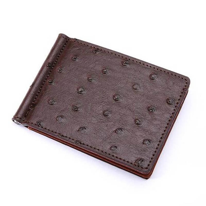 Slim struts mönster läder Mäns pengar klipp plånbok med 4 kort - Plånböcker - Foto 2