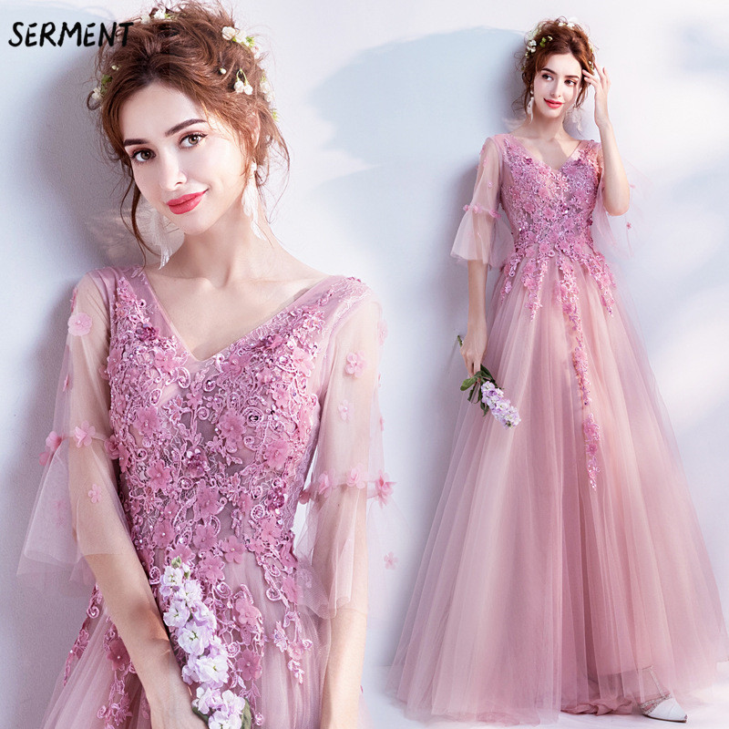 30% Discount 2019 New Wedding Lace Tail Long Sleeve Aristocratic Elegant Bride Print Explosion Wedding Dress(China)