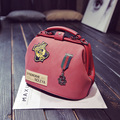Women Luxury Brand PU Leather Scrub Bags 2017 Fashion Ladies Shoulder Bags Bolsos Famous Designer Satchel Vintage Badge Handbags