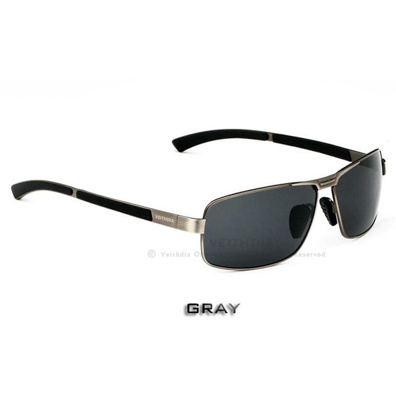 VEITHDIA, с оригинальным чехлом, поляризационные солнцезащитные очки для мужчин, фирменный дизайн, винтажные мужские солнцезащитные очки, gafas oculos de sol masculino 2490 - Цвет линз: gray
