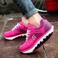 Mujeres niñas Adultos zapatillas de plataforma de Adelgazamiento zapatos oscilación Zapatos cuñas femeninas de Fitness Tonificación Zapatos primavera otoño size35-40