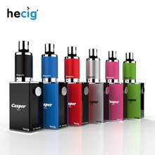 hecig Wax&dry herb vaporizer Casper Trio vaporizing box mod electronic cigarette vape Kit 1000mah battery electronic cigarette jsld 80w kit vape built in 2000mah battery box mod large smoke steam vape kit vs txw 80w vape e cigarette