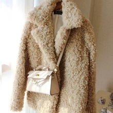 New Style High-end Fashion Women Faux Fur Coat S28