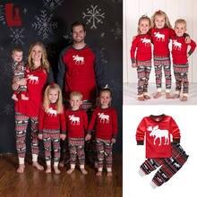 e7954bb22183f Famille correspondant tenues femmes hommes enfants noël Pyjamas enfants  vêtements ensemble bébé infantile vêtements de nuit
