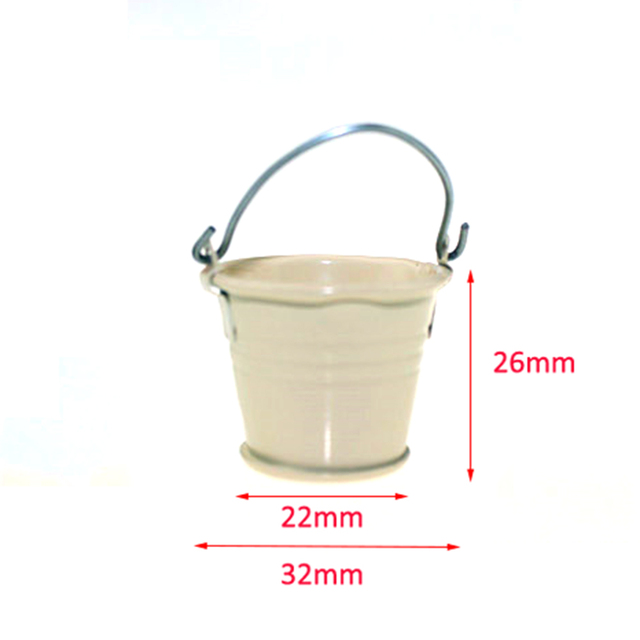 1:12 Simulation Model Metal Bucket Mop Indoor and Outdoor Decoration L5G0