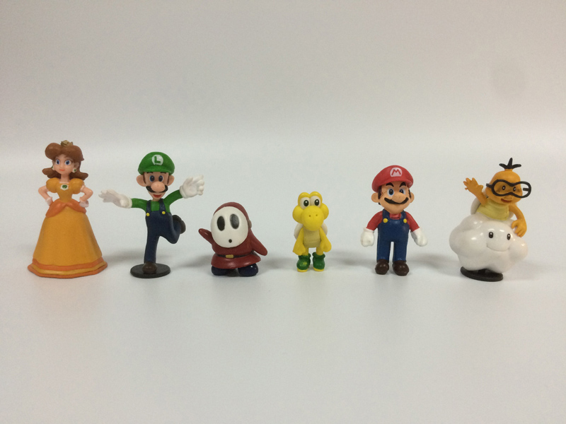 6Pcs/set Super Mario Bros PVC Action Figure Toys Dolls Mario Luigi Yoshi Mushroom Donkey Kong Lovely Kids Gift