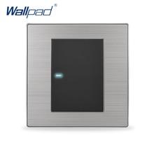 2017 Лидер продаж 1 Gang 1 Путь адррес wallpad роскошные светодиодный свет переключатель кнопочный стены Настенные переключатели interrupteur 10A AC 110 ~ 250 В