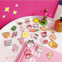 1PCS Japan and South Korea cartoon Icons Acrylic Badges for Backpack Badges Clothes Plastic Badge Kawaii Pin brooch Badge зубная паста восточный чай с гинго 130 гр kerasys
