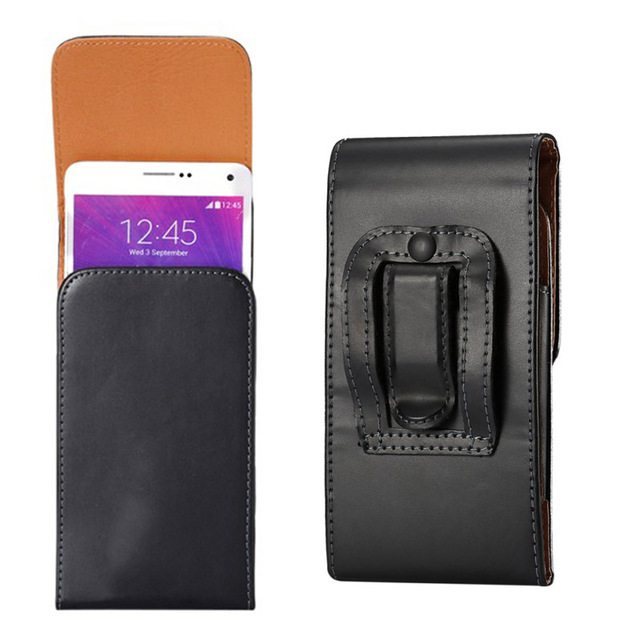 "5-5.2 inch  Belt Clip Holster PU Leather Bag Flip Cover Case for MOTO droid turbo xt1254 5""inch Universal cases Business Men"