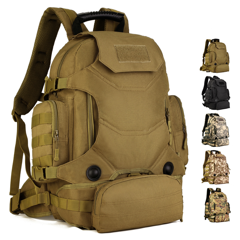 Large Capacity 40L Tactical Assault Backpack Army Molle Sports Bag Outdoor Waterproof Men&Women Travel Camping Hiking Hunting 40l tactical molle backpack military assault pack waterproof rucksack hiking camping travel large school lantop backpack