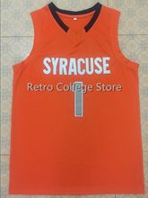 6d43acd0a Retro College Michael Carter Williams 1 Syracuse basketball jersey orange  white