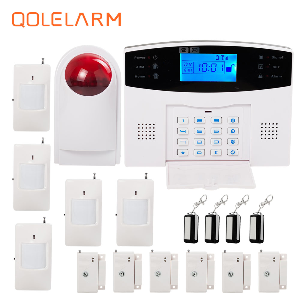 Russian/French/Spanish/Polish voice prompt GSM alarm system for home security anti theft PIR detector wireless siren APP control smart pir mp alert a9 anti theft monitor detector gsm alarm system for home