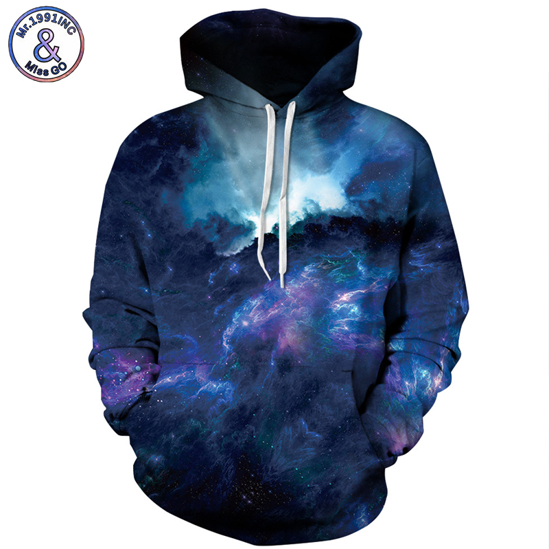 Mr.1991INC Star Sky Europe America Hot digital Print Sweatshirts With Pocket Hooded Pullovers Men Sweatshirt Hoodie Hoodies M118