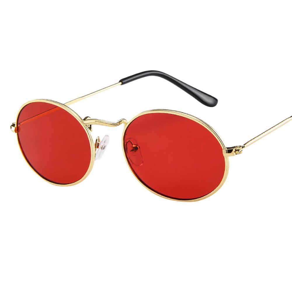 Neue Mode Vintage Retro Oval Sonnenbrille Ellipse Metall Rahmen Gläser Trendy Fashion Shades Brille Frauen/Männer Anti-Uv