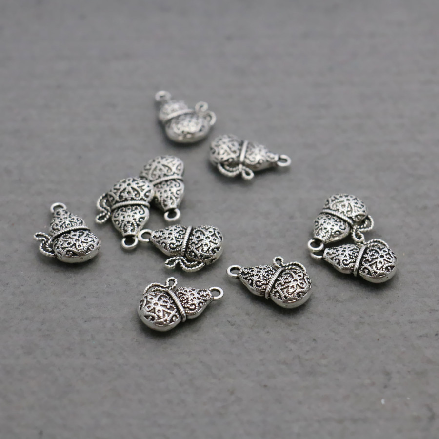10PCS Boutique Hardware Metal Gourd Fittings Accessory DIY components Findings for Bracelet Necklace Machining parts 14x20mm
