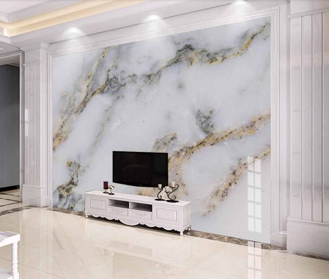 Modern White Marble Wallpaper 3d Wall Mural For Tv Background Wall Decor Gold Luxury Murals Photo Printed Wall Paper For Bedroom Best Price 0cd6c Cicig