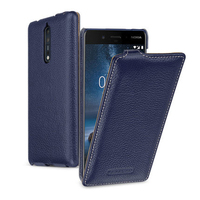 2017 Business Style Up Down Flip Phone Cover For NOKIA 8 Case Luxury Cow Genuine Leather