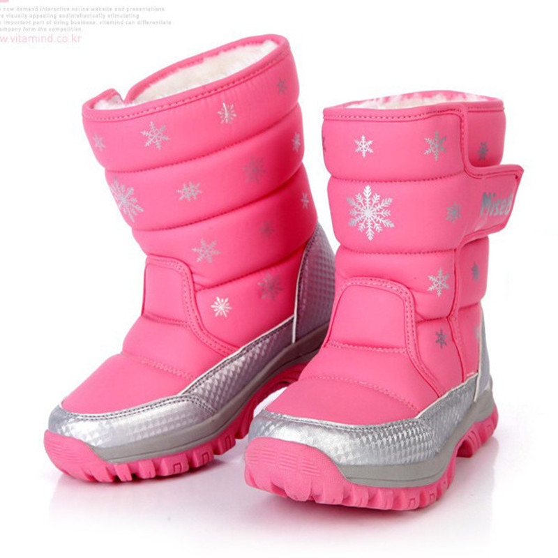 Free shipping New Winter Children Shoes Leather Waterproof Boots Kids Snow Boots Brand Girls Boys Rubber Boots Fashion Sneakers 2016 new arrival fashion kids shoes pu leather children shoes for boys