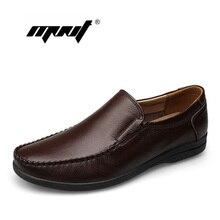 Echtes Leder Handgefertigten Wohnungen Schuhe, Mode Lässig Faulenzer Schuhe, Plus Größe Mokassins Für Männer zapatillas deportivas