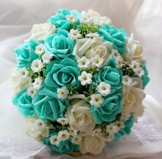 bleu fleurs artificielles-achetez des lots à petit prix bleu