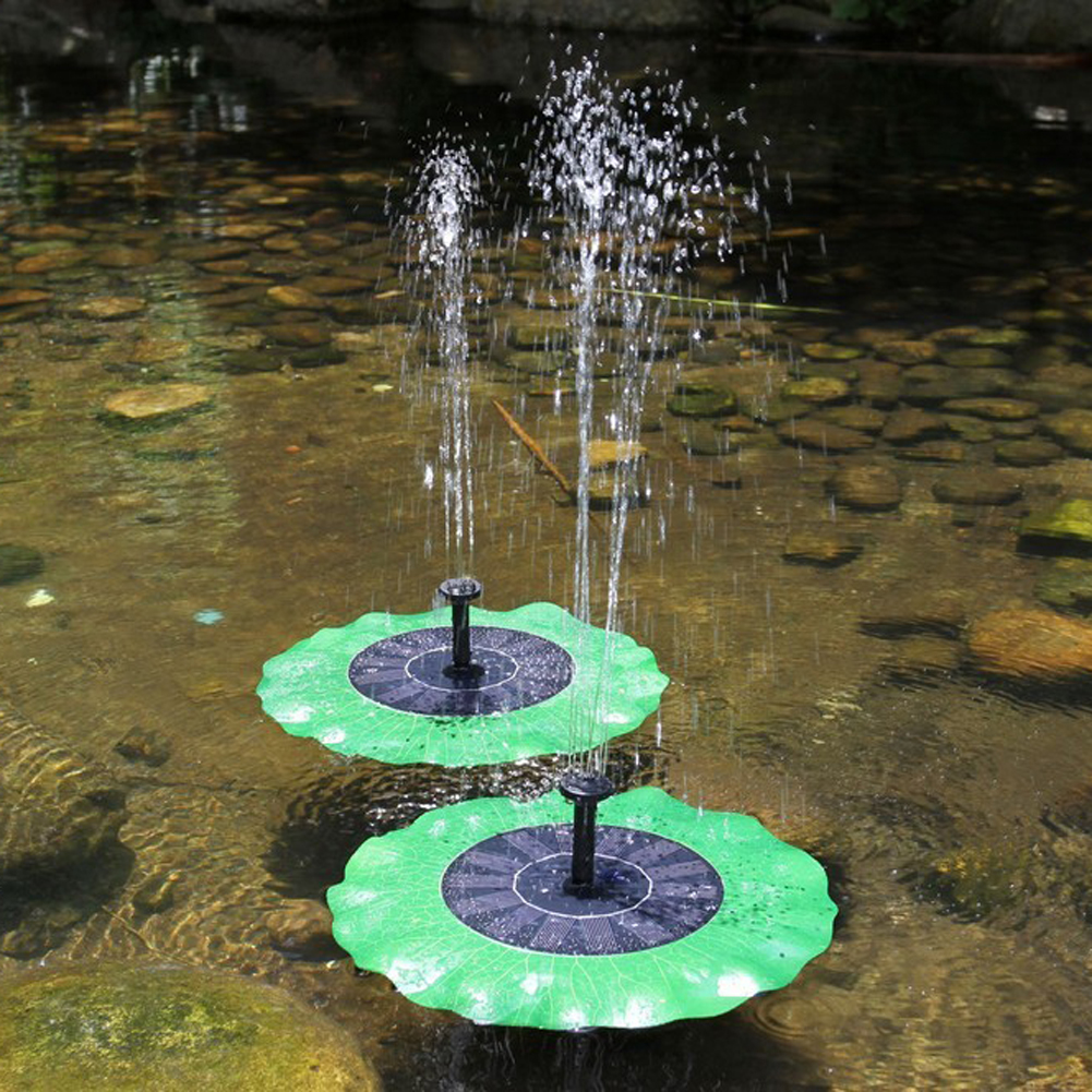 High Quality Solar Water Panel Power Fountain Pump Kit Lotus Leaf Floating Pump Pool Garden Pond Watering Submersible Pumps стоимость