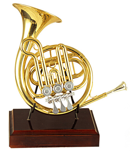 Купить с кэшбэком High F Rotary Post Horn With Bag and Stand Brass Musical instruments