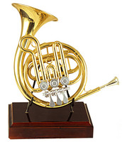 High F Rotary Post Horn With Bag and Stand Brass Musical instruments