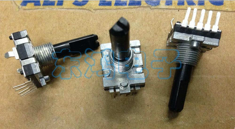 2PCS/LOT EC16 type double coding switch, 16 positioning number, 16 pulse, 5 pin, shaft length, 25mm digital potentiometer 2pcs lot gepruft german ec12 encoder with switch 30 positioning number 15 pulse number 427 0221820l001